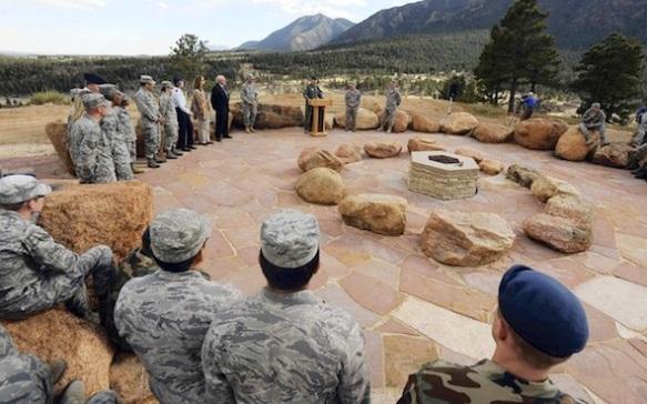 Air Force Academy's Cadet Chapel Falcon Circle dedication