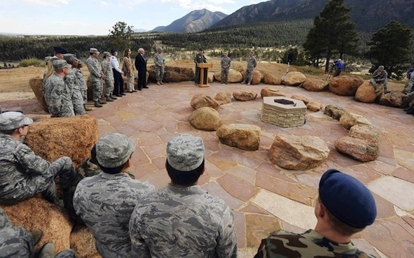 Air Force Academy's Cadet Chapel Falcon Circle dedication