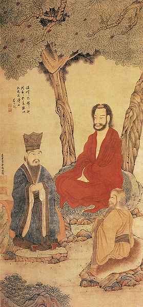 279px-Confucius_Lao-tzu_and_Buddhist_Arhat_by_Ding_Yunpeng