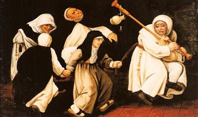 moines et nonnes dansant