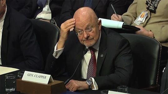 US Director of National Intelligence James Clapper
