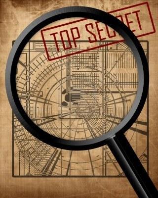 3095816-oude-top-geheime-blauwdruk-spionage