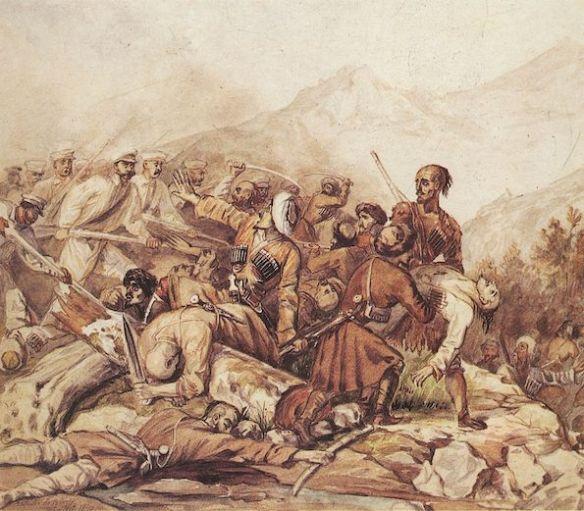 Paintings_by_Mikhail_Lermontov,_1840,_Valerik