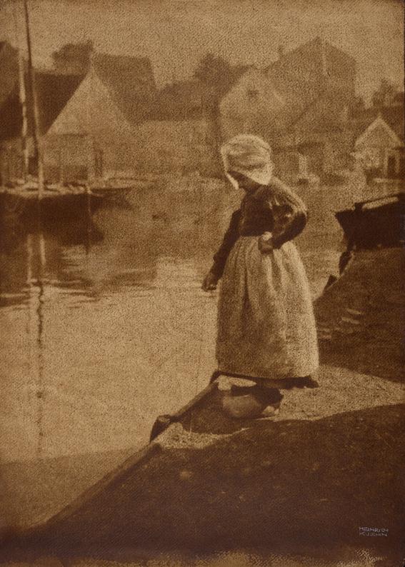 Dutch Girl in Landscape