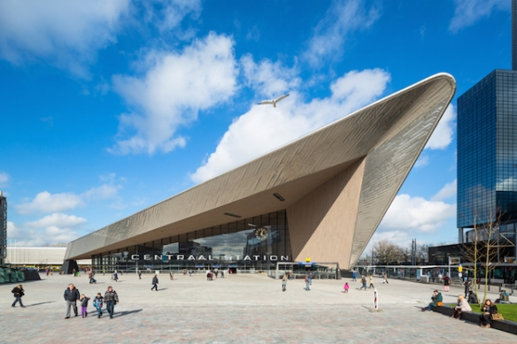 Rotterdam Central Station designed by Team CS; photography by Jannes Linders