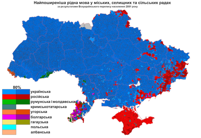 UkraineNativeLanguagesCensus2001detailed