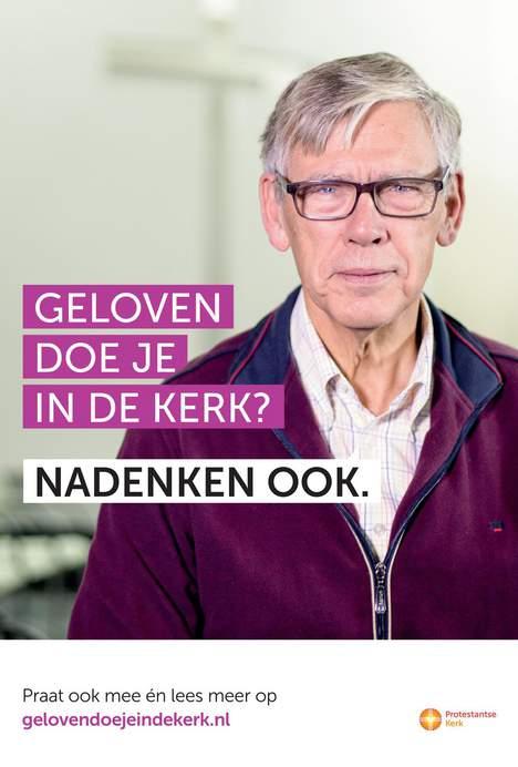 Nieuwe campagne poster PKN bij verhaal waar Gerrit Jan over schrijft voor maandag krant